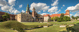 panorama of Wawel cathedral in Krakow, Poland