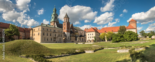 Aluminium Krakau panorama of Wawel cathedral in Krakow, Poland