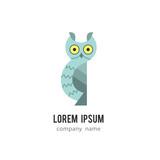 Owl icon design for company, school, sticker, shop, clothes.