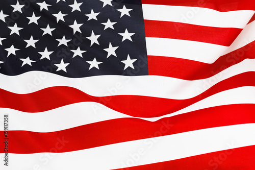 Poster USA flag background, Independence Day, July Fourth symbol