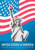 Statue of Liberty. New York landmark. American symbol. Vector.