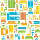 Furniture and home equipment related vector seamless pattern 3 - 159127304