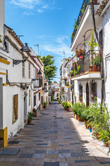 Typical old town street in Marbella