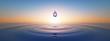 Leinwanddruck Bild - Wassertropfen im weiten Ozean
