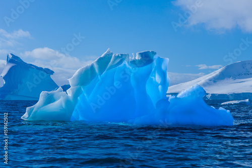 Foto op Canvas Antarctica Wonderful transparent iceberg in Antarctica