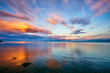 Orange Sunset Lake Superior Minnesota