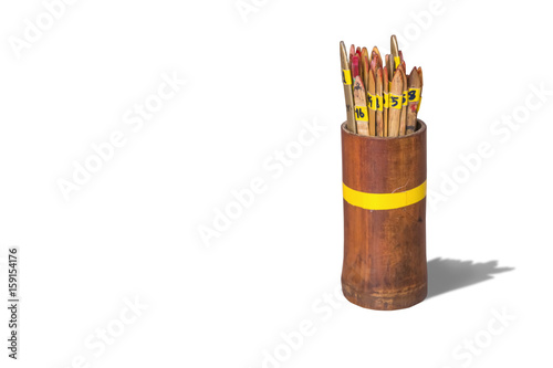 Chi-Chi Sticks(Seam-si),isolated on white background with clipping path Poster