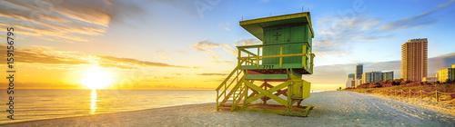 Foto op Aluminium Strand Miami South Beach sunrise