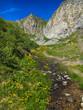 Piccolo torrente nelle alpi Carniche in Friuli Venezia Giulia