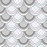 Seamless pattern of fish scales. Light gray universal fish and mermaid scales on a transparent background. Beautiful background for your design