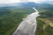 Aerial view of river Carrao in Venezuela
