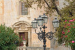 Beautiful cast iron street lamps in front of the Church of St. Joseph on Piazza IX Aprile - Taormina, Sicily, Italy