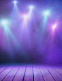Fototapety Stage with purple smoke