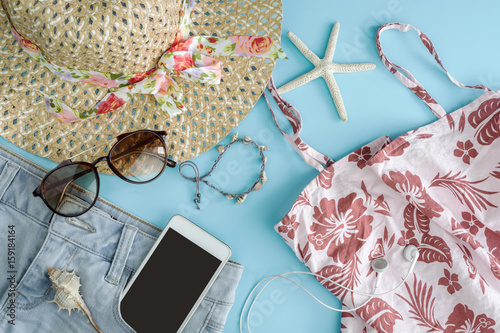 Fashion summer women clothes set with accessories