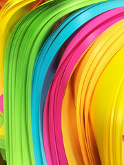 Colorful strip or layer paper