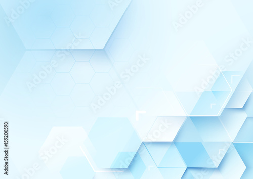 Abstract geometric shape technology digital hi tech concept background. Space for your text - 159200598