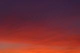 Beautiful colorful winter sunset sky. Unusual weather phenomenon. Background