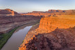 Canyon of Colorado River - sunrise aerial view