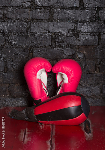 Póster Red boxing gloves