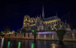 The Notre Dame in long exposure at night