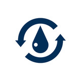 Isolated Water Icon Symbol On Clean Background. Vector Treatment  Element In Trendy Style. - 159223143