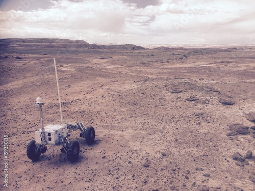 Foto op Canvas Nasa Simulated Mars Rover