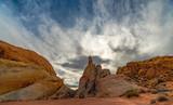 Desert Plateau with Sandstone Peaks