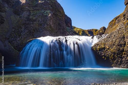 Foto op Canvas Stjornarfoss waterfall in Southern Iceland
