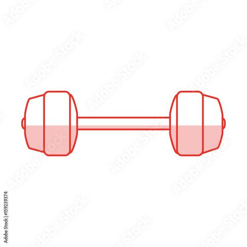 dumbbells sport gym flat icon vector design illustration graphic shadow