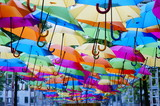 Rainbow of umbrella