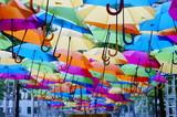 Rainbow of umbrella