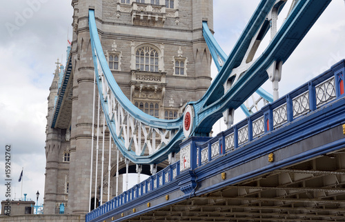 Tower Bridge over the River Thames, down the river from London Bridge where the recent terrorist attacks occurred in London England