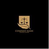 Law Logo Template Design  - 159246589