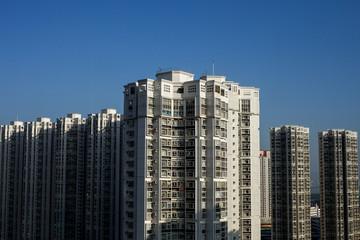 High rise public housing estate in Hong Kong