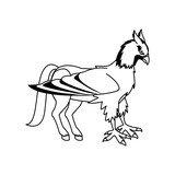hippogriff greek mythological creature beast vector illustration