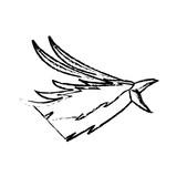 phoenix head bird mythological magic image vector illustration