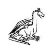 dragon beast mythology fantasy monster medieval vector illustration