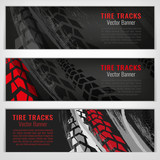 Tire track banners - 159260102