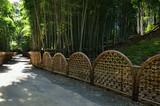 bamboo fence at Japanese garden, Kyoto Japan