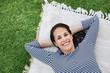 Woman relaxing outdoor