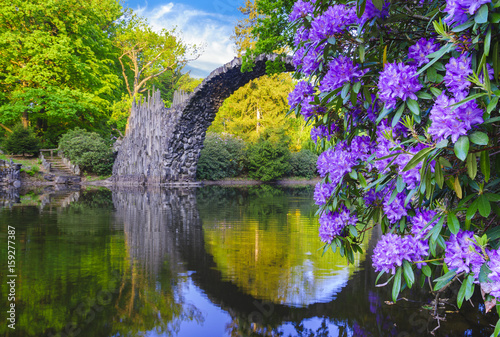 Spring in the rhododendron park in Kromlau, Germany
