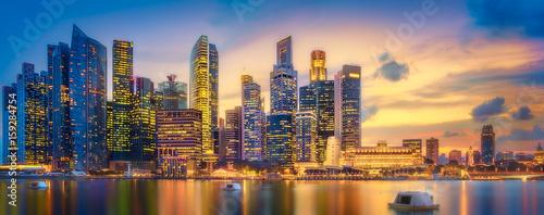 Singapore skyline background © boule1301