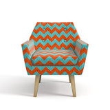 Armchair isolated on white background 3D rendering - 159287725