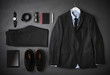 Flat Lay Shot Of Male Business Clothing And Digital Tablet