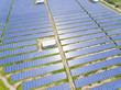 Quadro Aerial View of Solar Panel Farm, Taiwan..