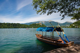 Wooden boat on Lake Bled, Slovenia
