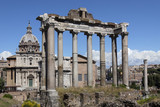 Temple of Saturn - Roman Forum - Rome - Italy poster