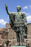 Statue of Trajan - Roman Forum - Rome - Italy poster