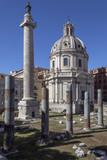 Trajan's Column - Rome - Italy poster