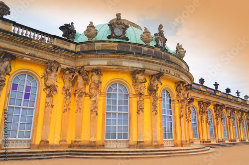 Potsdam, Germany, Sanssouci (the former summer palace of Frederick the Great, King of Prussia)